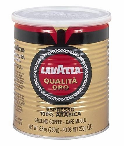 Lavazza Qualita Oro Espresso Ground Coffee, 8.8-Ounce Cans (Case of 12)