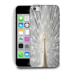 Snoogg White Peacock Printed Protective Phone Back Case Cover For Apple Iphone 6 / 6S
