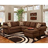 Exceptional Designs Patriot U-Shaped Sectional Patriot Chocolate Microfiber