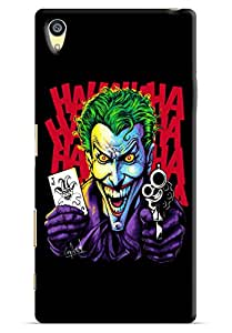 Omnam Joker Holding Gun Printed Designer Back Cover Case For Sony Xperia Z5 Premium