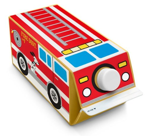 Box Play For Kids Fire Truck Milk Carton Stickers