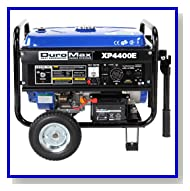 DuroMax XP4400E 4400 Watt 7.0 HP OHV 4-Cycle Gas Powered Portable Generator With Wheel Kit And Electric Start