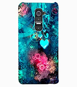ColourCraft Abstract Image Design Back Case Cover for LG G2