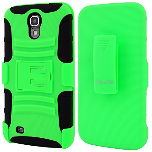 Celljoy Samsung Galaxy Mega 6.3 Case Protective [Future Armor] Ultra Fit Dual Protection Cover With Belt Clip Holster For Galaxy Mega 6.3 [Retail Packaged] (Neon Green)