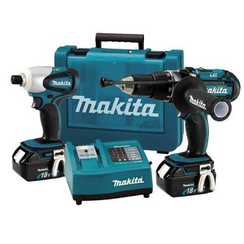 Makita LXT202 18v 2pce Power Tool Kit 2 x 3Ah Li-ion Batteries