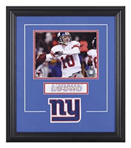 Mounted Memories New York Giants Eli Manning Framed Photo and Plate by Mounted Memories
