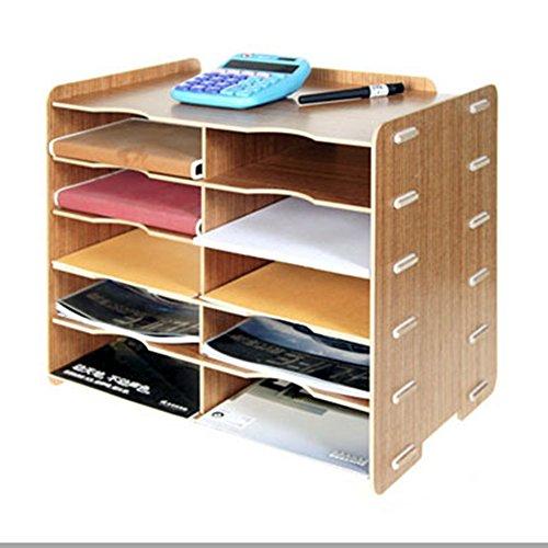 natamo diy wooden desktop organizer 10 compartment file