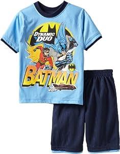 Warner Bros Boys 2-7 Batman 2 Piece Knit Short Set at Gotham City Store