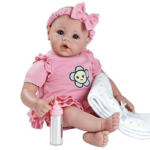 Adora-BabyTime-Pink-16-Weighted-Washable-Girl-Play-Doll-Gift-Set-Ensemble-for-Toddlers-3-Includes-Bottle-Blanket-Snuggle-Soft-Huggable-Vinyl-Toy