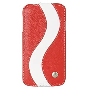 Melkco Leather Case for Samsung Galaxy S4 GT-I9500 - Special Edition Jacka Type - (Red/White) - SSGY95LCJS1RDWELC