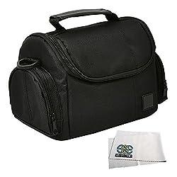Medium Soft Padded Digital SLR Camera Travel Case/Bag with Clip-on Detachable and Adjustable Strap for Nikon D3000, D3100, D3200, D3300, D5000, D5100, D5200, D5300 & D5500 DSLR Cameras