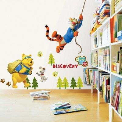 Imagen 3 de Winnie the Pooh y Tiger - Muro de los niños pegatinas casa Art Deco Pegatinas de pared