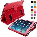 iPad Mini & Mini 2 Case, Snugg™ - Smart Cover with Flip Stand & Lifetime Guarantee (Red Leather) for Apple iPad Mini & Mini 2 with Retina