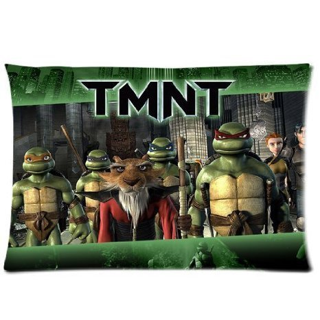 Oakleig Cool TMNT Teenage Mutant Ninja Turtles 16 by 24 Inch Zippered Cotton And Polyester Rectangle Pillowcases Protector Case (Ninja Body Pillow compare prices)