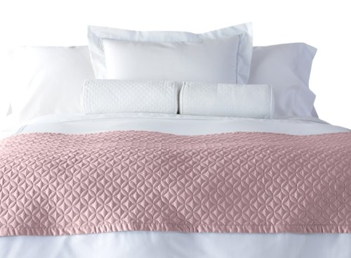 Cuddledown 400 Thread Count Meridian Bed Scarf, Twin, Thistle front-896835