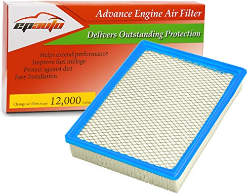 EPAuto GP755 (CA8755A) Cadillac / Chevrolet / GMC Replacement Extra Guard Rigid Panel Engine Air Filter for Silverado(1999-2016),Suburban(2000-2016),Tahoe(2000-2016),Sierra(1999-2017),Yukon(2000-2016) (2006 Gmc Sierra Air Filter compare prices)