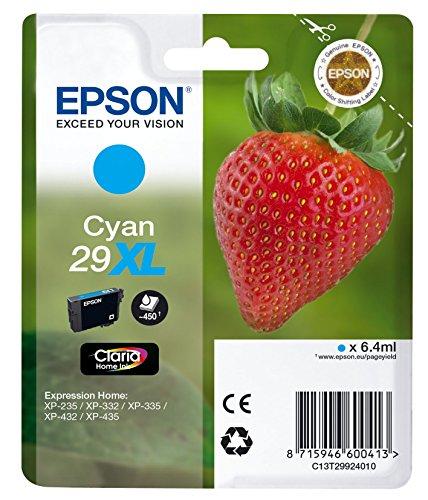 Epson T29924010 Tintenpatrone Erdbeere, Tinte Claria Premium Ink, Singlepack, cyan