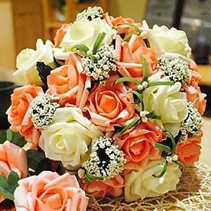 Round Bridal Flower Romantic Wedding Bride 39 S Bouquet Rose