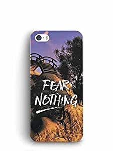 YuBingo Fear Nothing Designer Mobile Case Back Cover for Apple iPhone SE