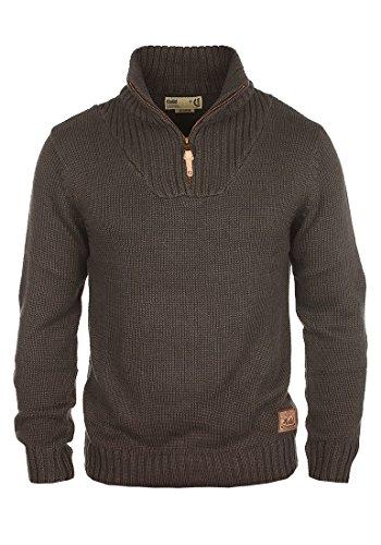 solid-petro-maglione-da-uomo-taglialcolorecoffee-bean-melange-8973