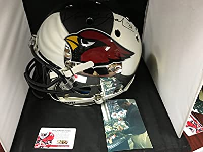David Johnson Autographed Signed Arizona Cardinals UNI Silver Chrome Limited Edition Full Size Helmet COA & Hologram