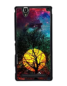 Aart Designer Luxurious Back Covers for Sony Xperia T2 + 3D F2 Screen Magnifier + 3D Video Screen Amplifier Eyes Protection Enlarged Expander by Aart Store.