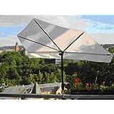 Hollysun ® STABIELO Outdoor - Fächerschirm Holly ® Farbe NATUR - mit Holly® 360 ° Universalgelenkhalterung® GVC...