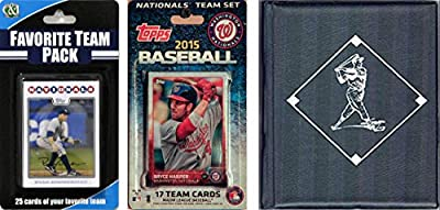 MLB Washington Nationals Men's Licensed 2015 Topps Team Set and Favorite Player Trading Cards Plus Storage Album