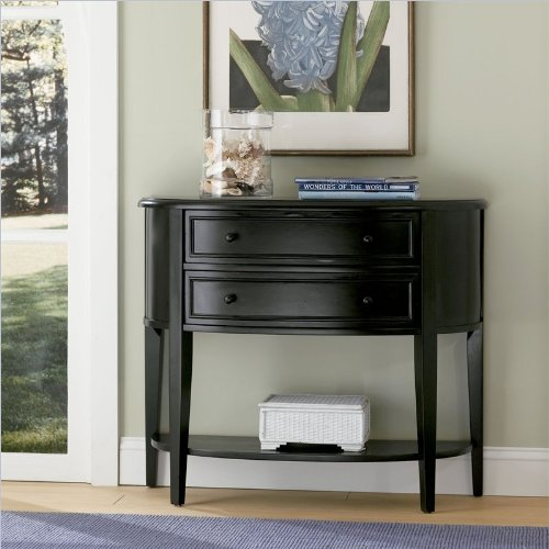 Cheap Powell Furniture Antique Black Demilune Black Console/Sofa Table (502-515)