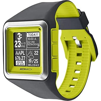 MetaWatch STRATA – Optic Green Smartwatch (MW3006) for iPhone and Android