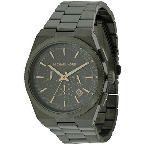 Michael Kors MK8403 43mm Black Steel Bracelet & Case Mineral Men's Watch