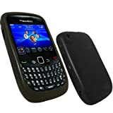 ZAFOORAH® - HOT NEW SILICONE Case Cover Skin for Blackberry Curve 8520 8530 9300 3G (Black)