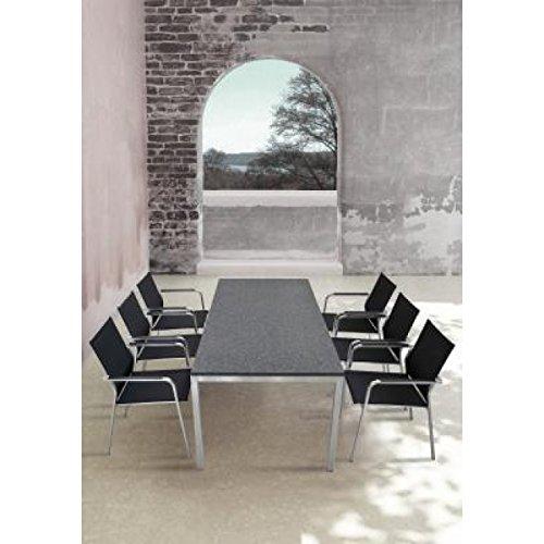 sit mobilia gartentisch modell kubu economy edelstahl granit 160 x 90cm. Black Bedroom Furniture Sets. Home Design Ideas