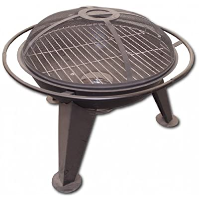 Majestic Flame 22 Garden Fire Pit Grill With Safety Guard by Majestic