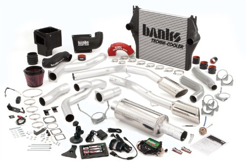 Banks Power 49713 PowerPack System; Performance System; Incl. EconoMind Tuner/Banks iQ/Banks Ram-Air Intake/Techni-Cooler Intercooler/Monster Exhaust; Single;