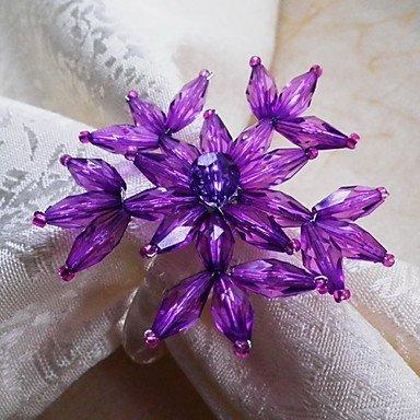 TTOMI Floral Rond de serviette, acrylique , Green