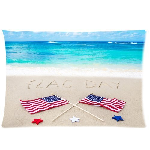 Butuku American Flag Day Custom Zippered Pillow Case 20X30 (One Side) front-559836