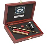 Manuscript Pen-Writing & Seal Set. A Tradition Way To Write Letters And Make Seals! The Perfect Kit For Cark Making And Scrapbooking! This Package Contains One Gold Marble Dip Pen Holder, One 41 Crown Fine Nib, One Brass Mini Seal With A ...