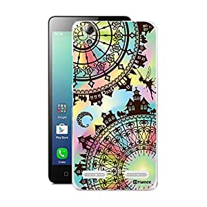 Customizable Hamee Original Designer Cover Thin Fit Crystal Clear Plastic Hard Back Case for Lenovo A6000 Plus / Lenovo A6000 (Stained Glass Type/ Princess Design 4)