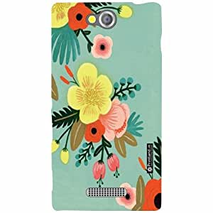 Back Cover For Sony Xperia C (Printed Designer)