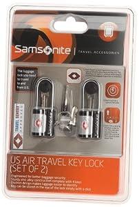 samsonite kofferschloss mit schl ssel und tsa schloss 2er set us air lock black 45572. Black Bedroom Furniture Sets. Home Design Ideas