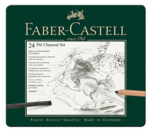 Faber-Castel 24 Piece PITT Charcoal Set (Pressed Charcoal compare prices)