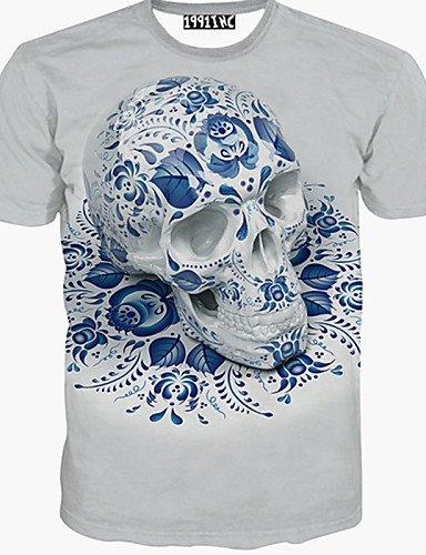 &G&g& 2016 T-shirt Uomo Casual Con stampe Manica corta Cotone , cream-2xl , cream-2xl