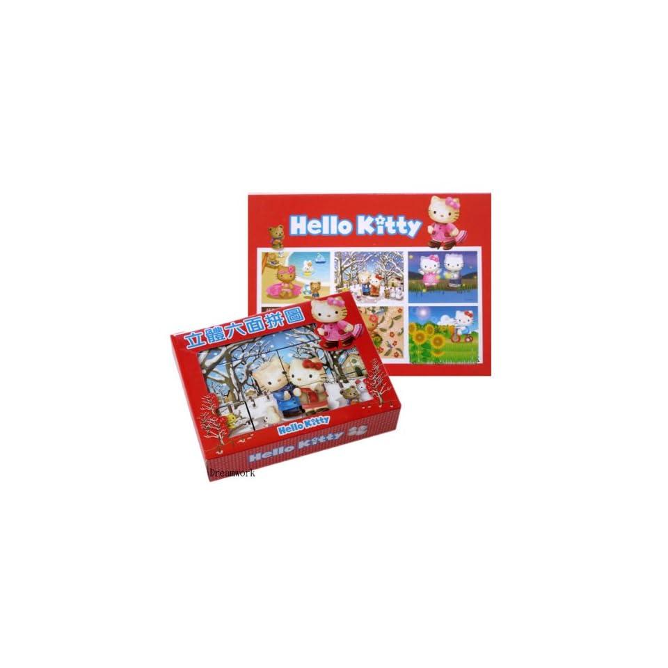 3D Puzzle   Sanrio Hello Kitty Puzzle Blocks (6 Scenes) Toys & Games