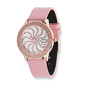 Fashionista Vertigo White Dial/pink Leather Watch by Moog Watches, Best Quality Free Gift Box Satisfaction Guaranteed