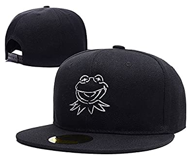 The Muppets Kermit The Frog Face Logo Adjustable snapback Embroidery Hats Caps
