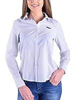 Galvanni Camisa Mujer Baseja (Azul / Blanco)