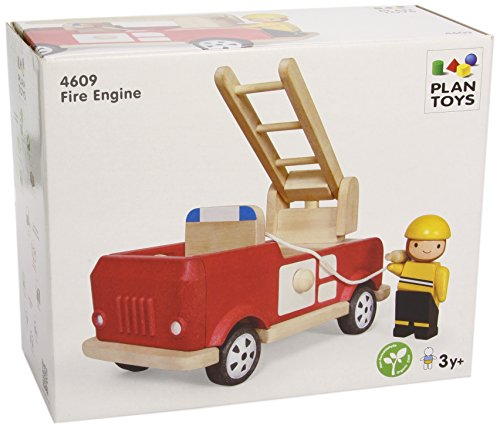 Plan Toys Fire Engine Playset