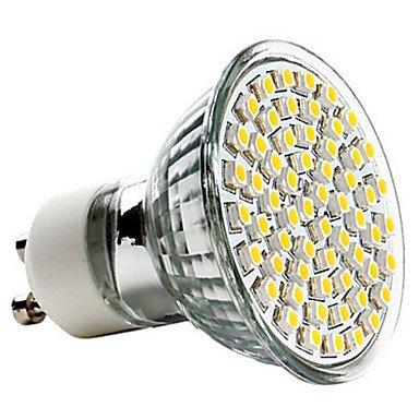 Gu10 3.5W 60X3528Smd 250-350Lm 2800-3200K Warm White Led Light Projector (220-240V)
