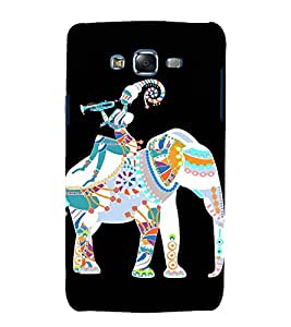 printtech Ethnic Elephant Girl Pattern Back Case Cover for Samsung Galaxy Grand 2 G7102 / Samsung Galaxy Grand 2 G7106